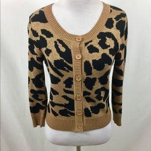 5 for $25   Animal Print Cardigan Sparkle Sweater